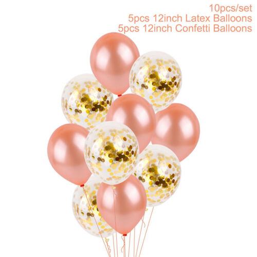 12'' 36'' Gold Foil Confetti Latex Balloons Helium Wedding Birthday Party Decor
