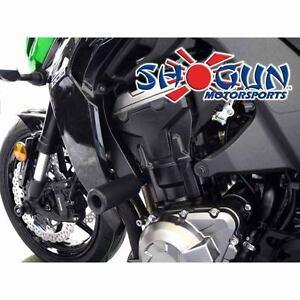 Kawasaki 2014-2016 Z1000 Z-1000 Shogun Frame Sliders No Cut Version - Black