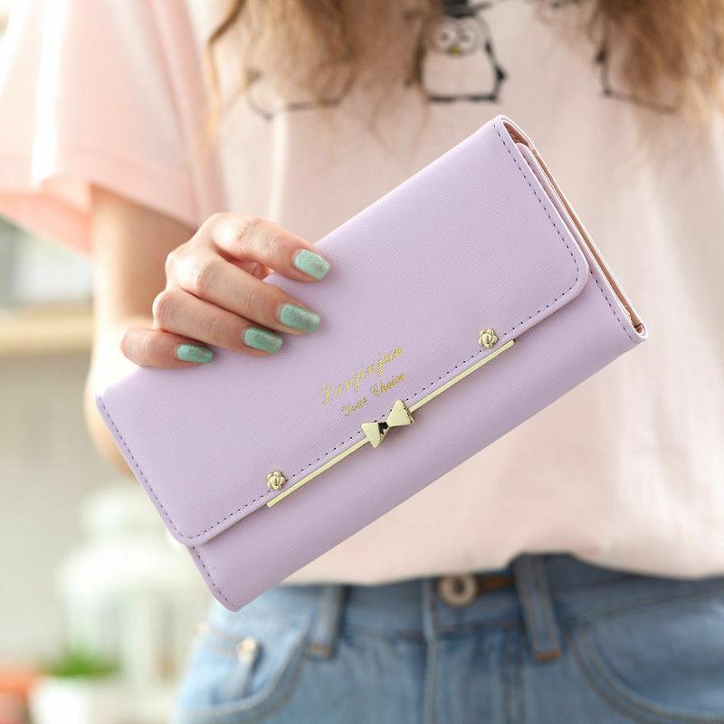 Fashion Women Leather Clutch Wallet Multi-card Holder Purse Bag Long Handbag US Clothing, Shoes & Accessories