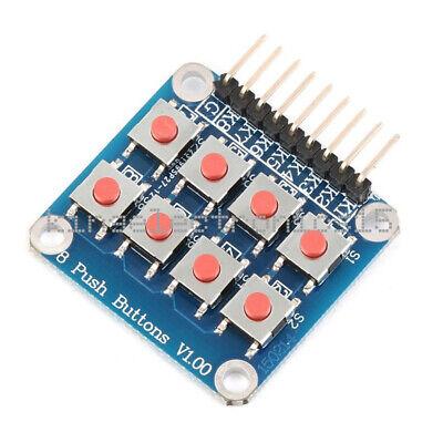 New Matrix 8 Keypad Keyboard Board Module 8 Button Tactile Switch For Arduino