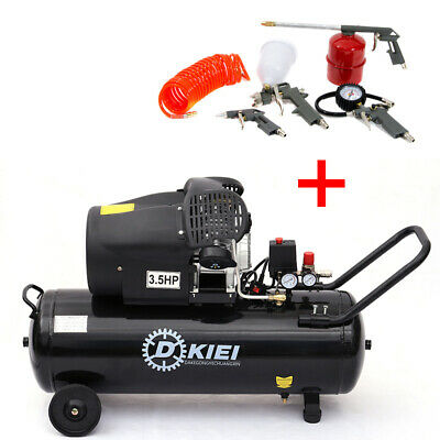 Air Compressor 100L Litre 3.5HP 8 BAR 220V 14.6CFM Wheel V-Twin Engine 5pcs Tool