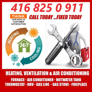Hot Water Tank , Furnace , Gas line , Fireplace , Roof Top , Fix