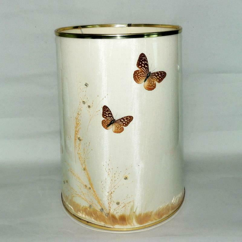 """Van Briggle Art Pottery Butterfly Lamp Shade 18"""" High EXC"""
