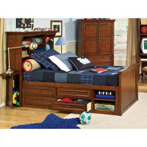 Twin Bookcase Captain Bed