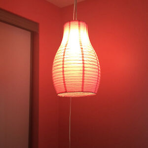 Hanging Pink Paper Lantern Light