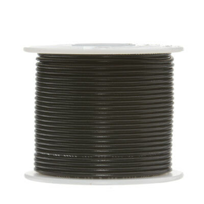 30 Awg Gauge Stranded Hook Up Wire Black 250 Ft 0.0100 Ptfe 600 Volts