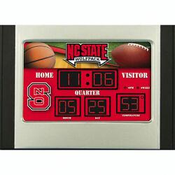 North Carolina State University WolfPack NCAA Scoreboard Desk Clock Free Ship