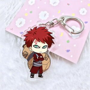 Hot Anime Naruto Gaara Acrylic Key Ring Pendant Keychain Cosplay Gift