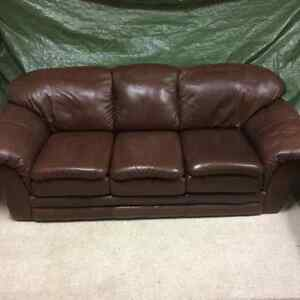 Palliser leather sofa and chair