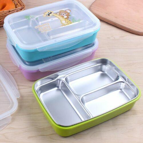 Children Kids Stainless Steel Bento Lunch Box Food Storage C