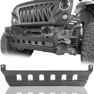 Front Bumper Cover Texured Black Offroad Skid Plate for 07-18 Jeep Wrangler JK Bumper Black Jeep Wrangler