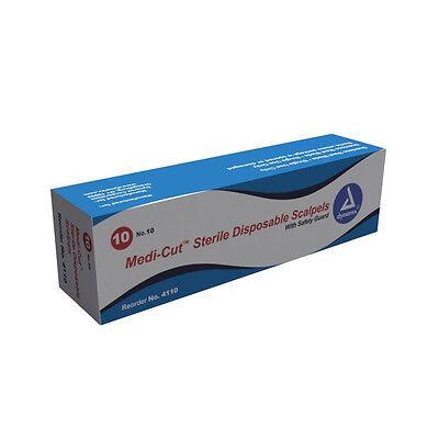 Dynarex Medi-cut Sterile Disposable Scalpels 10 Box Of 10 4110