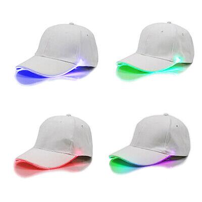LED LIGHT UP BASEBALL CAP HAT ILLUMINATED APPAREL UNISEX Four COLOR HAT ()