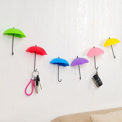 3PCS/Set Umbrella Key Holder Hanger Storage Wall Hook Organizer Mount Home Decor