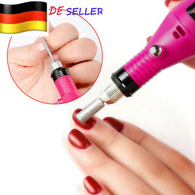 Nail File Art Electric DRILL File Acrylic Manicure Pedicure Portable Machine SET - Electric Nail Drill