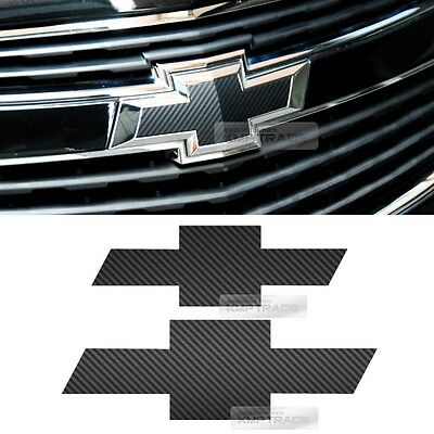 Front Rear Black Carbon Emblem Badge Decal Sticker For CHEVROLET 2013 2014 Cruze