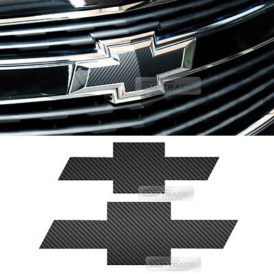 Front Rear Black Carbon Emblem Badge Decal Sticker For CHEVROLET 2013 2014 Cruze