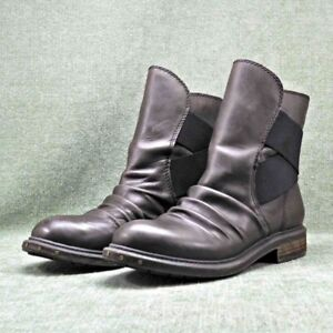 Ladies Dark Brown Leather 'Naya Retro' Short Boots 8.5M