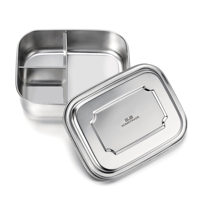 Stainless Steel Bento Lunch Box Food Containers for Kids,3 C