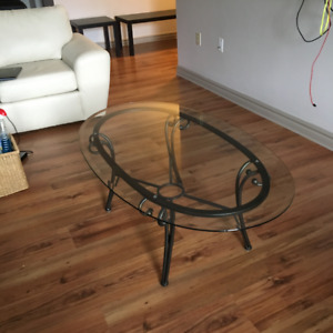 Glass Coffee Table + End Tables - $50
