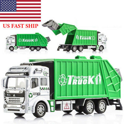 1:32 Trash Garbage Truck Alloy Truck Kids Travel Saloon Xmas Gift Car Play Toy - Christmas Play Kids