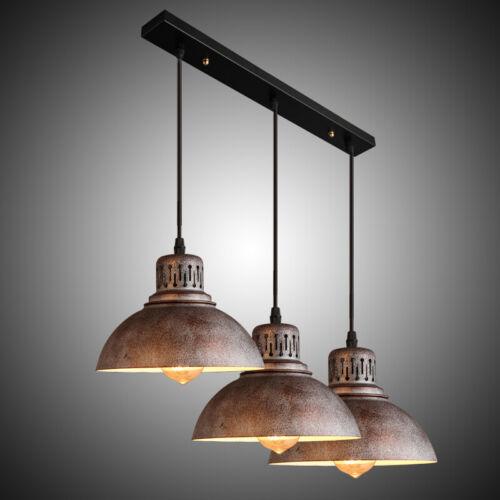Rustic 3-Light Kitchen Island Light Fixtures Hanging Shade P