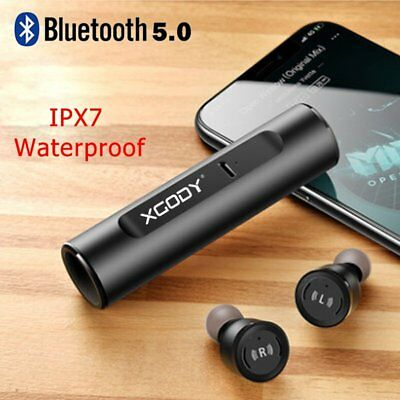 XGODY Wireless Bluetooth 5.0 Headphone Sports Earbuds Mini Stereo In Ear Headset