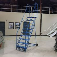 10 STEP ROLLING LADDER / WAREHOUSE