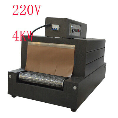 1pc Black Shrink Tunnel Packaging Machine Heat Shrink 220v 4.0kw Wooden Package