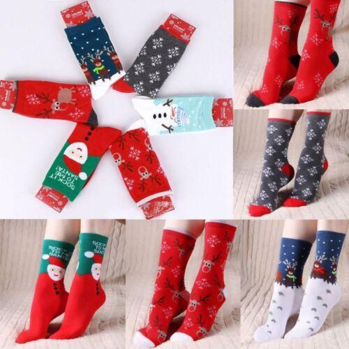Lovely Christmas Socks Women Men Gift Santa Claus Deer Warm