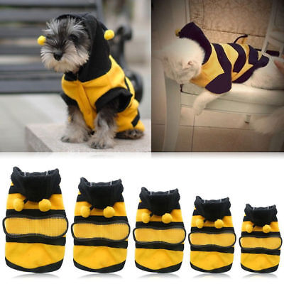 Hot Pet Dog Cat Puppy Warm Hoodie Coat Clothes Cute Bee Costume Apparel Outfit - Cats Outfit