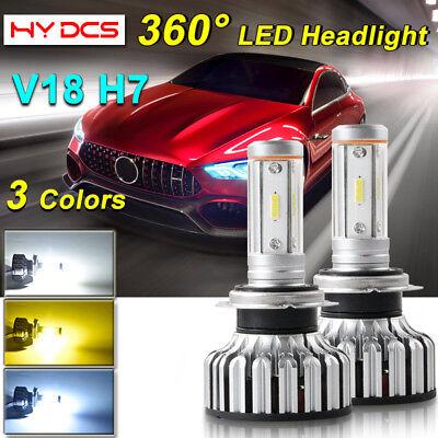 H7 LED Headlight Bulbs 4-Side for Mercedes Benz SL S SLK E C CL Class DIY  V18