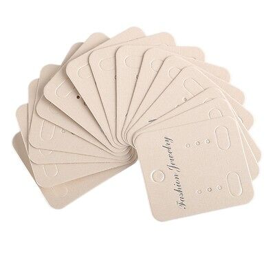100pcslot Beige Earring Display Cards For Packing Jewelry Gifts 4.34.9cm