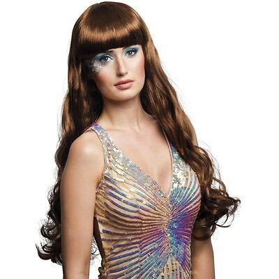 Lange Haare Junge Kostüme (Langhaar Perücke Meerjungfrau braun Kostüm Nixe Show Phantasie Glamour  #752)
