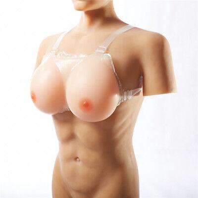 Silicone Fake Boobs Enhancer Crossdresser Bra Breast Forms Fake Breast - Boobs Costume