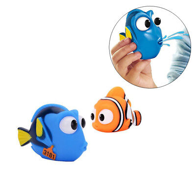 Lovely Squeezed Fish Baby Bath Toy Float Sound Rubber Bath Water -