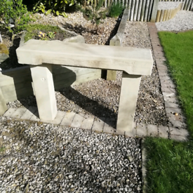 Yorkshire stone garden bench