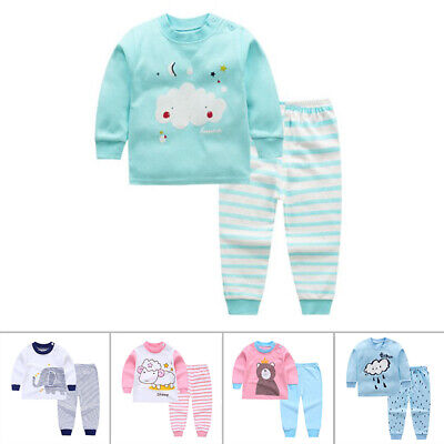 2pcs For Kids  /Baby Boys Girls Clothes Top+ Pants Cotton Ba