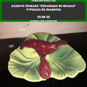 Céramique de Beauce - assiette homard