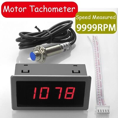4bit Led Digital Motor Tachometer Rpm Speed Meter Hall Proximity Switch Sensor