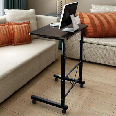 Laptop Desk Rolling Adjustable Portable Table Cart Computer Mobile Stand Home Us