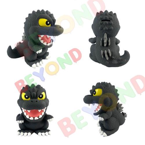 Cute Godzilla PVC Bust Coin Bank 3D Toy Figure Piggy Bank Coin Collector