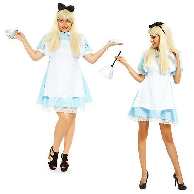 Ladies Alice in Wonderland Maid Costume Story Book Cosplay Lolita Fancy Dress](Alice In Wonderland Womens Fancy Dress)