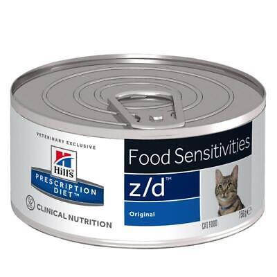 12 X Cans PACK Hills Prescription Diet Feline Zd Dry Cat Food Dietetic Skin Care