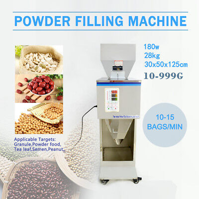 10~999G Automatic Powder Racking&Filling Machine Weigh Filler for Tea/Seed/Grain