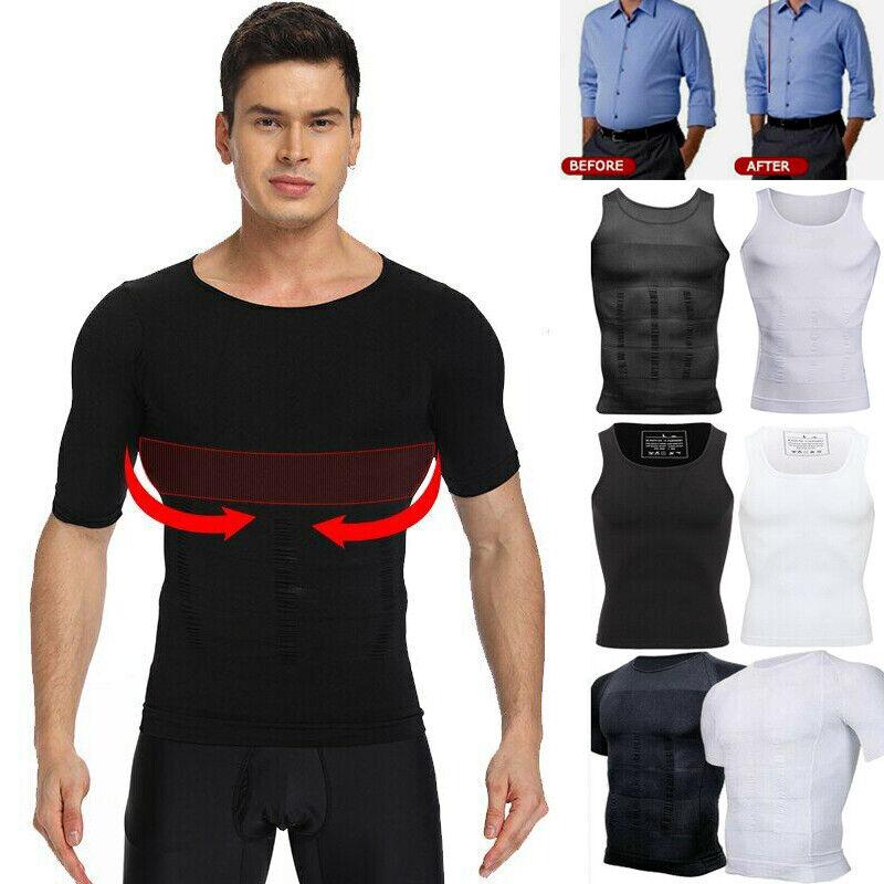 Men Slimming Vest Compression Shirt Gynecomastia Moobs Contr