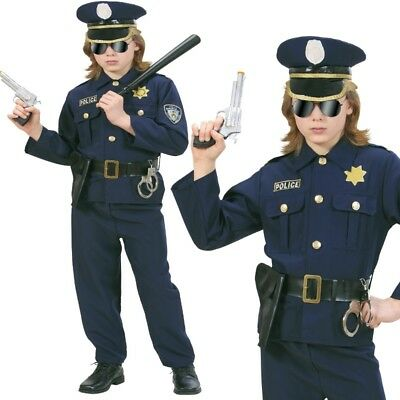 Polizist Polizei Kinder Kostüm Gr. 140 Police Officer NEU Jungen Karneval #7316