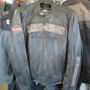 Men's Harley Davidson Leather Motorcycle Jacket Re-Gear Oshawa