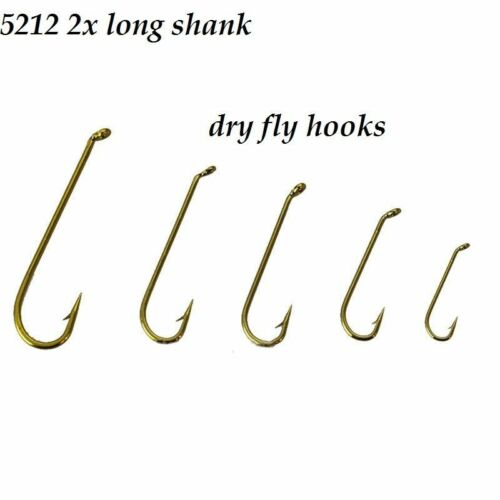5212 long shank Dry Fly Tying Hooks #18 #16 #10 #8 #4