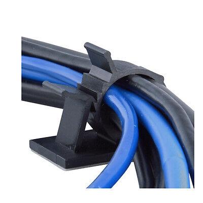 10 x cable clips adhesivo cable organizador de gestión sujetador abrazad DP